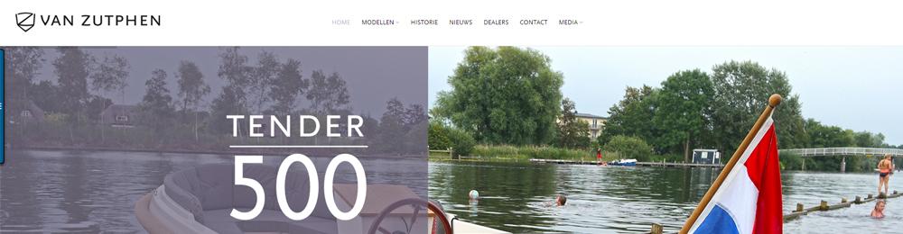 Foto van de website van Van Zutphen
